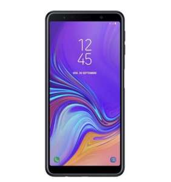 "Smartphone 6"" Samsung Galaxy A7 2018 - 64 Go, Double Sim, Noir (Frontaliers Suisse)"