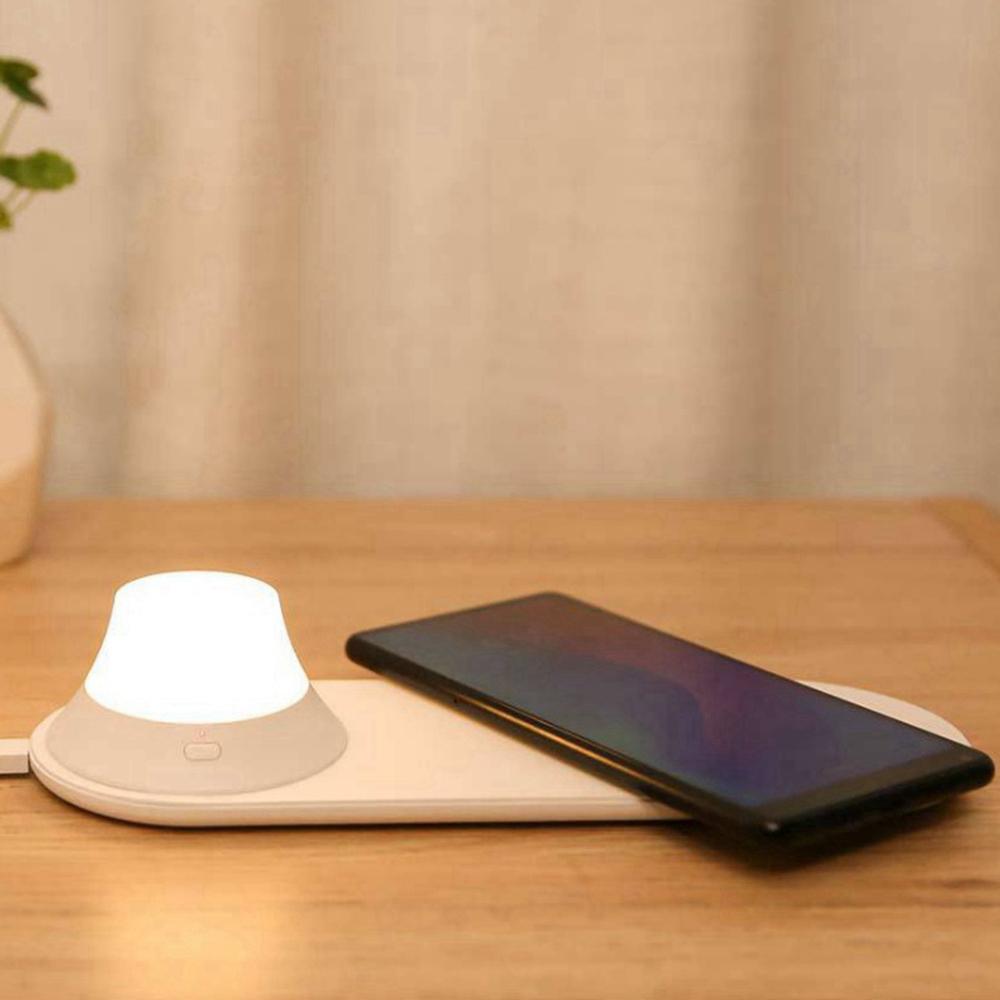 Chargeur sans fil Charge rapide Xiaomi Yeelight avec veilleuse LED magnétique