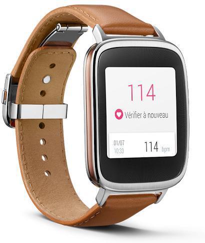 Montre connectée Asus Zenwatch - bracelet cuir