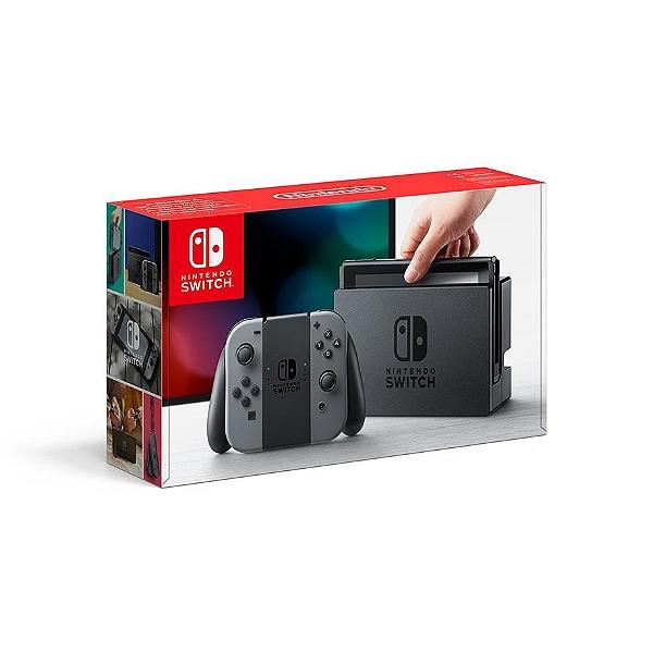 Console Nintendo Switch - avec paire de Joy-Con bleu/rouge ou noir