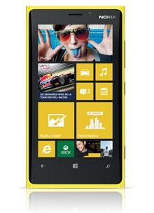 Smartphone Nokia Lumia 920 jaune (Avec ODR de 50€, engagement 2 mois minimum)