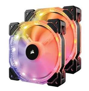 Lot de 2 ventilateurs PC Corsair HD140 RGB LED - 140 mm
