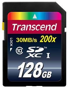 Carte SDXC  Transcend classe 10 -  128 Go