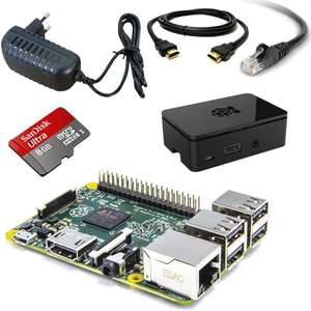 [FRANCE] Kit complet, prêt a l'emploi , Raspberry Pi 2 Type B (avec Carte microSD, Câbles, Alimentation, boitier)