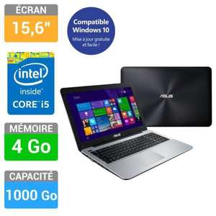 "Pc portable 15.6"" Asus X555LA-XX805H (i5-5200U - Mémoire 4Go - Stockage 1000Go - Intel HD Graphics)"