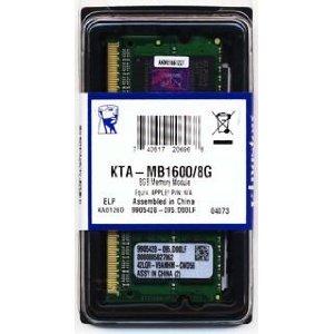 Barrette de ram Kingston 2x8Go (16Go) DDR3 So-Dimm 12800 (1600mghz) - MacBook Pro 2012