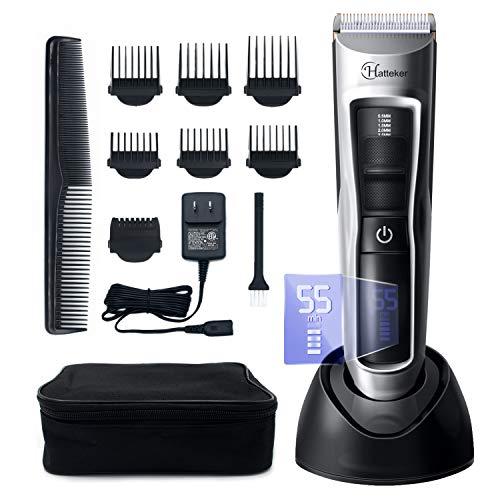 Tondeuse à Cheveux Sans-fil Hatteker Rechargeable en USB pour Hommes + Accessoires (Vendeur Tiers)
