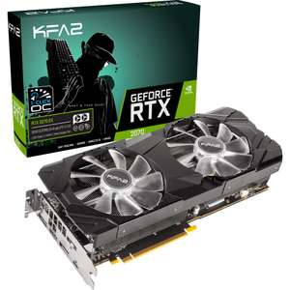 Carte graphique KFA2 GeForce RTX 2070 EX (1-Click OC) - 8 Go + Battlefield V ou Anthem offert