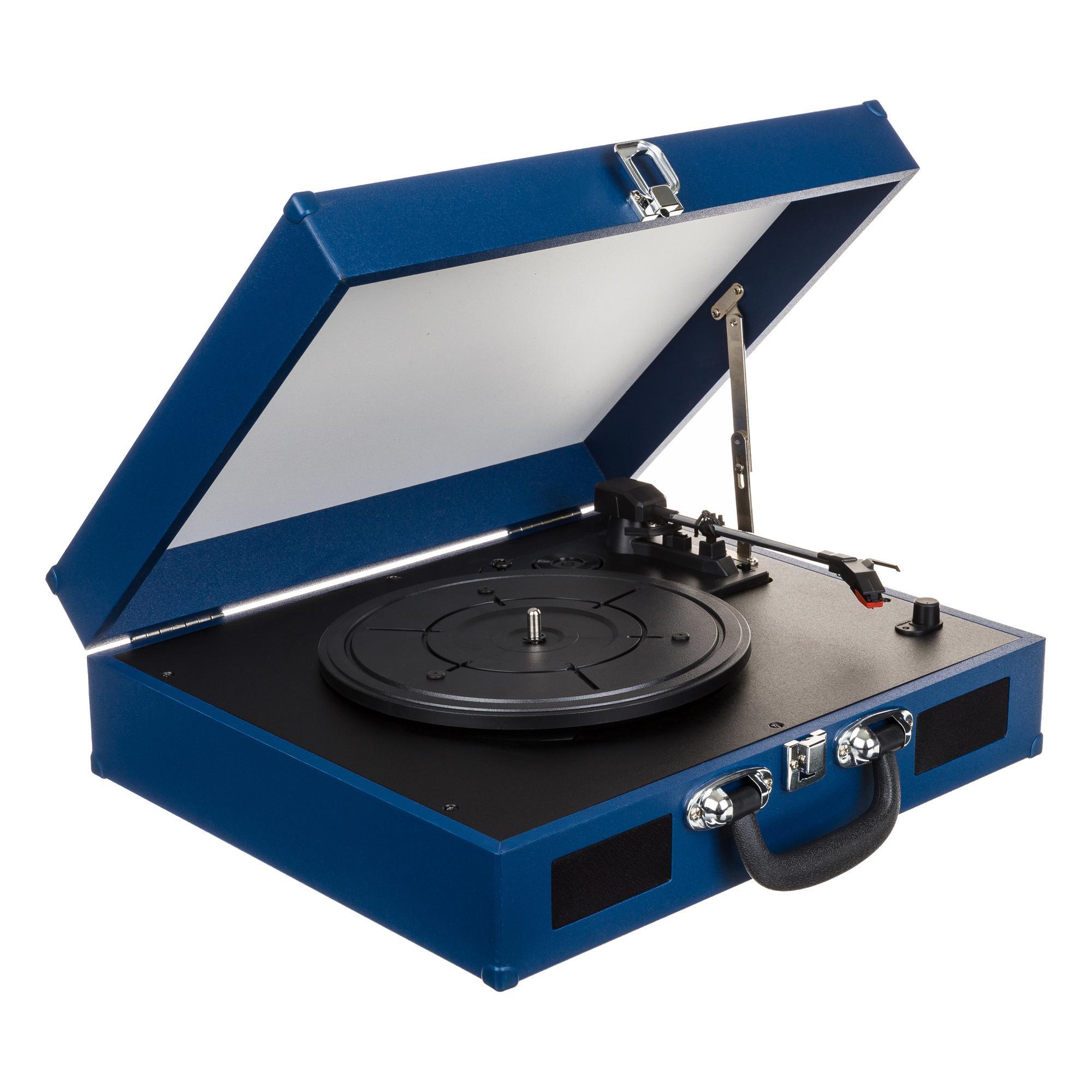 Tourne-disques 2-en-1 pour Vinyle et Smartphones - 2X1W RMS