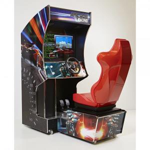Borne d'arcade René Pierre Cockpit Racing - avec 74 jeux, 170x80x180 cm