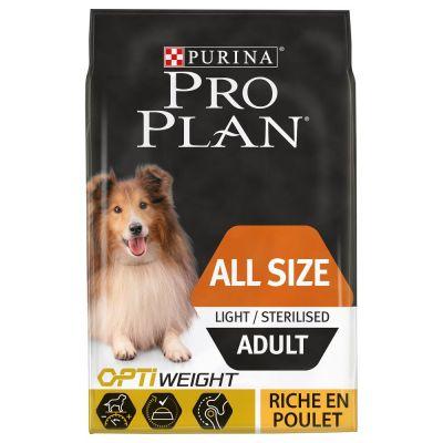 Pack de croquettes Pro Plan Poulet: All sizes Adult Light/Sterilised - 16,5 kg