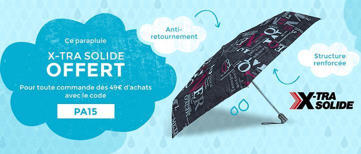 1 parapluie Isotoner offert dès 49€ d'achat sur tout le site