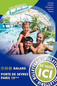Billet Adulte pour le Parc Aquatique de l'Aquaboulevard