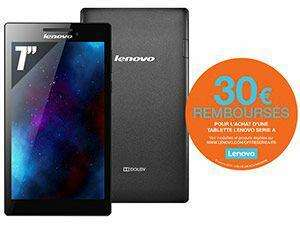 Tablette Lenovo Tab2A7-10 Noir ébène (avec ODR de 30€) + MicroSD 8Go Kingston Classe 4