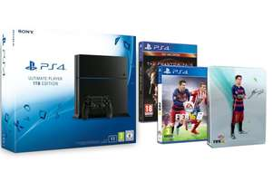 Console Sony PlayStation 4 - 1 To + Fifa 16 + Steelbook FIFA 16 exclusif + Metal Gear Solid V