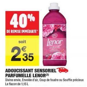 Flacon Gratuit d'Adoucissant Sensoriel Lenor Parfumelle (Variétés au choix) - 1.15L (Via BDR + Quoty)