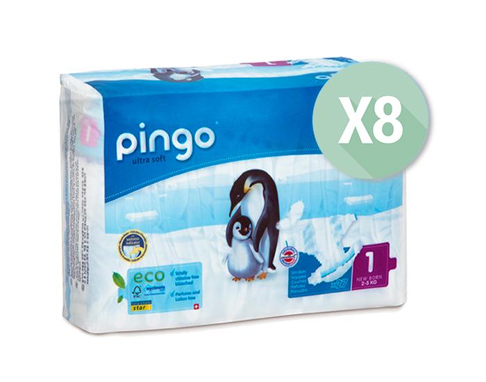 25% de réduction sur les Couches Écologiques Pingo - Ex : 8x Paquets, T1 / 2-5kg - 27