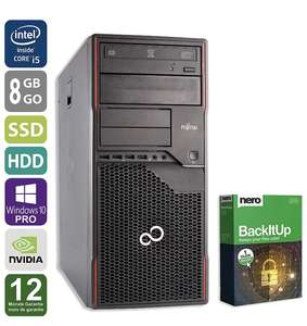 PC Gamer Fujitsu P910 - Nvidia Geforce GTX1050, Intel Core i5-3470 3,2GHz, 8Go RAM, 250 Go SSD + 1 To HDD, Reconditionné (Vendeur tiers)