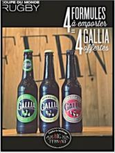 Pack dégustation de 4 bières Gallia pour l'achat de 4 Big ou Little Formule