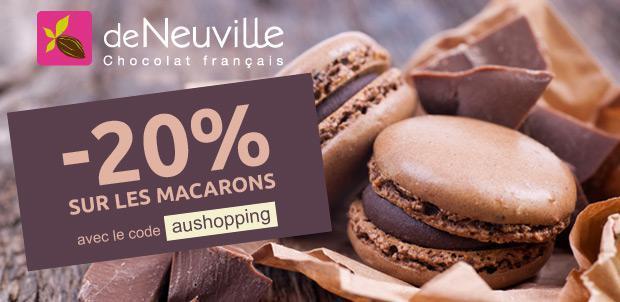 20% de réduction sur les macarons