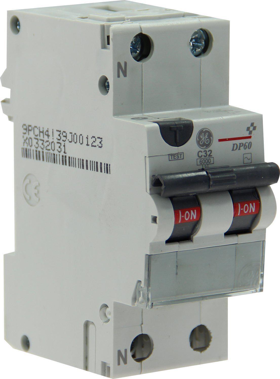 Disjoncteur différentiel General Electric - 32A 30mA type AC courbe C 6kA