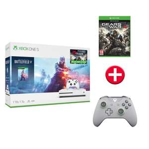 Pack console Microsoft Xbox One S 1 To + Jeu Battlefield V + jeu Gears of Wars 4 + 2ème manette
