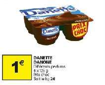4 crèmes dessert danette - Differentes varietes disponible (via BDR)