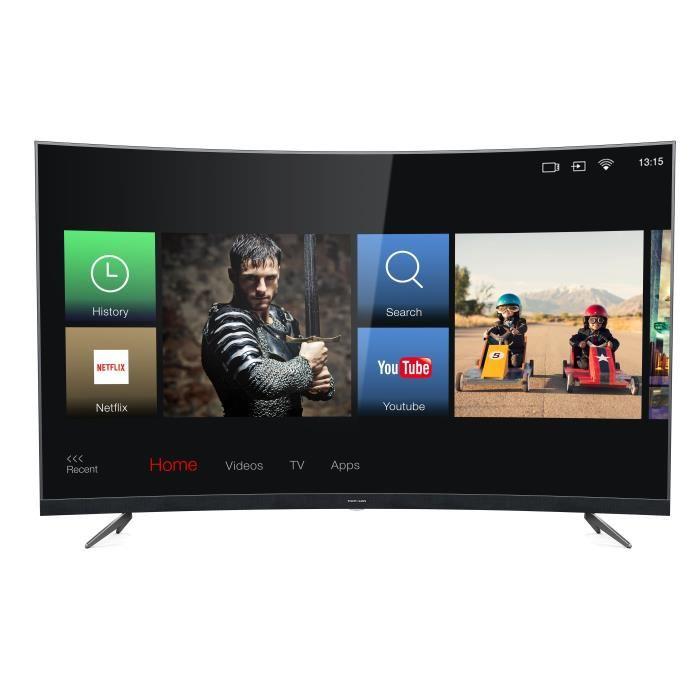 """[Cdiscount à volonté] TV 55"""" Thomson 55UZ6096 - 4K, Incurvée, Smart TV, barre de son intégrée (via ODR 100€)"""