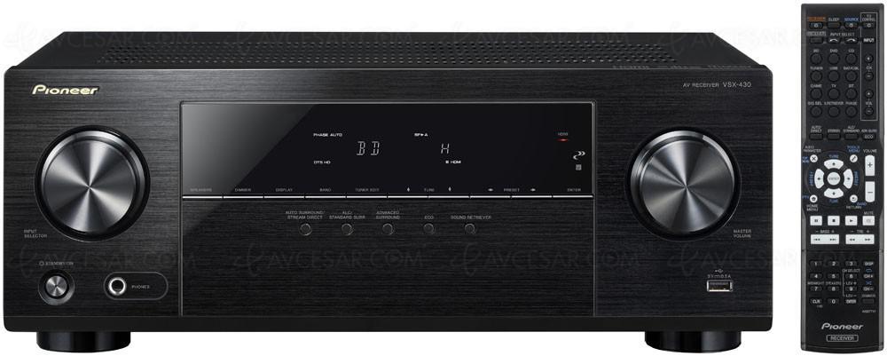 Ampli HC Pioneer VSX430 compatible 4K - Noir