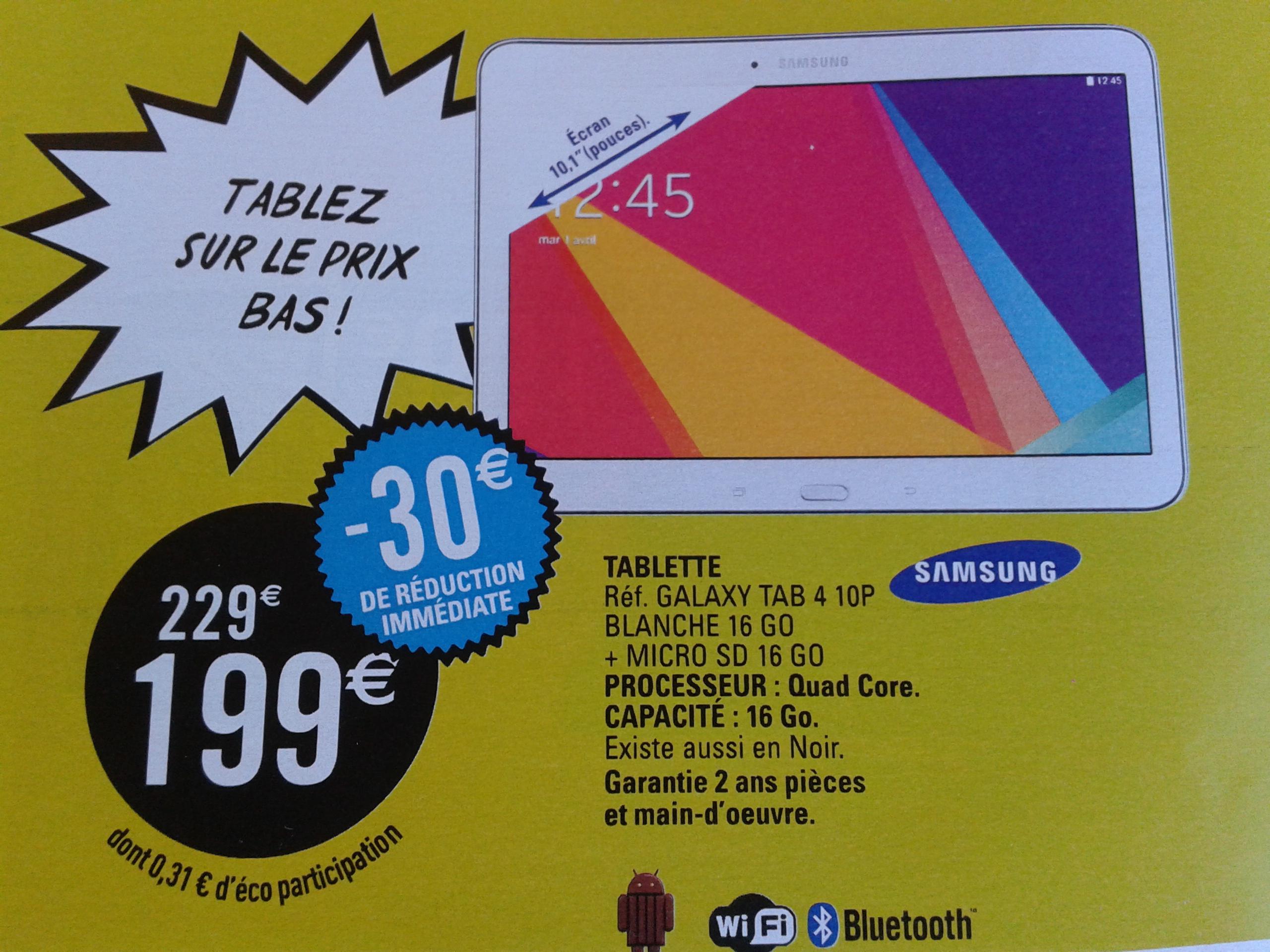 "Tablette 10"" Samsung Galaxy Tab 4  16 Go  + Micro SD 16 Go"
