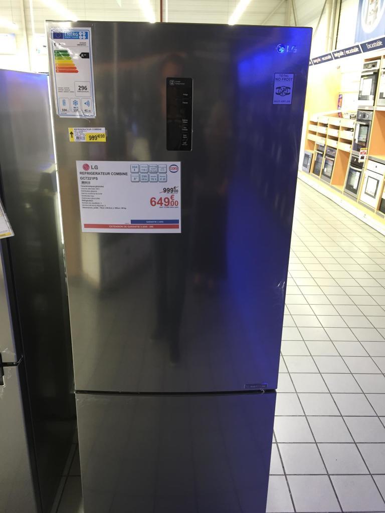 Réfrigérateur combiné LG GC7221PS 453L