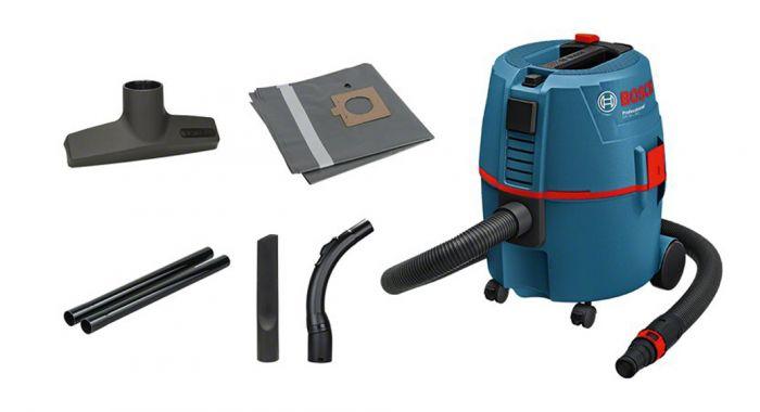 Aspirateur pour solides et liquides Bosch Professional GAS 20 L SFC - 060197B000 (fixami.fr)