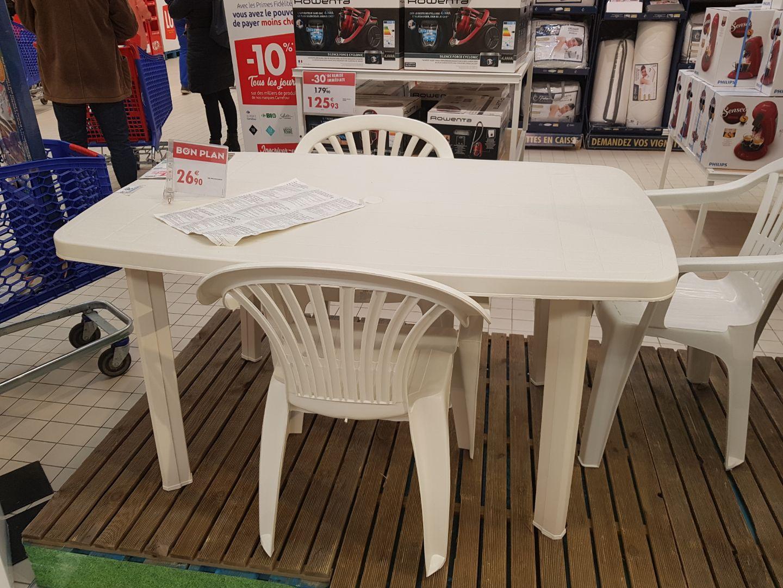 Table de jardin + 4 chaises - Saint Brice (95)