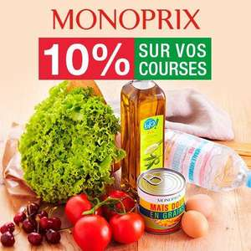 10% de réduction sur vos courses en ligne chez Monoprix