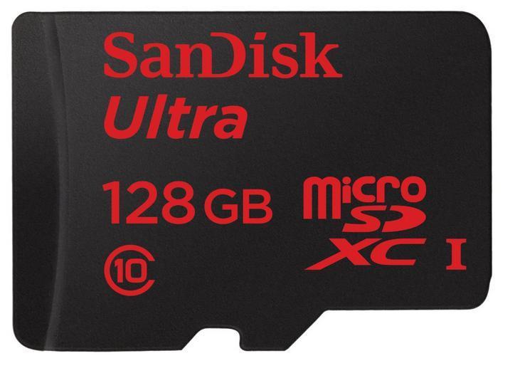 Carte MicroSDXC  Sandisk Ultra 128 Go Classe 10 + adaptateur