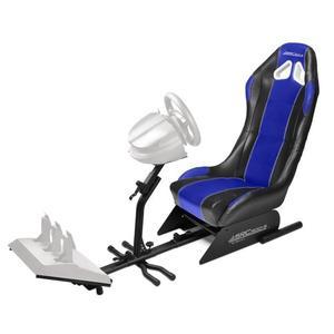 Siège baquet avec support pour volant et pédalier Subsonic SRC 500 pour PS4 - Xbox One - PC et PS3 - Bleu