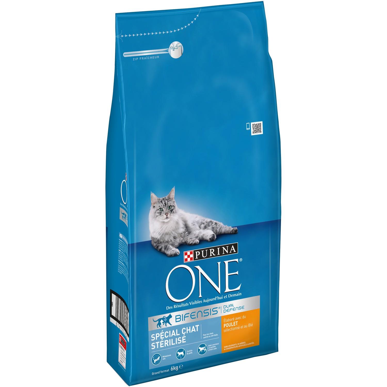 Lot de 2 sacs de Croquettes pour chat stérilisé au bœuf Purina - 2x6 kg