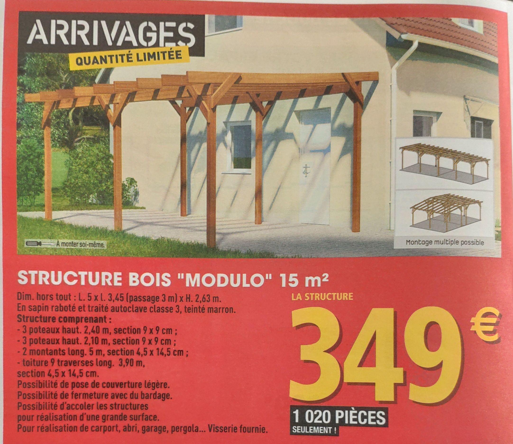 Structure bois Modulo - 15m²