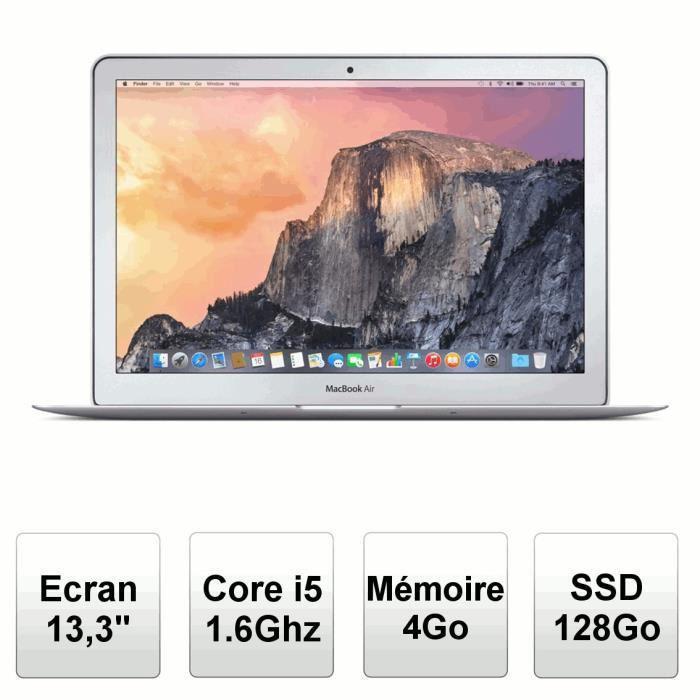 "MacBook Air 13,3"" 2015  (i5 1,6ghz - 4 Go Ram  - SSD 128go - Intel HD Graphics 6000)"