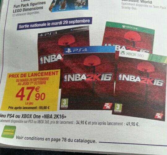 NBA 2k16 sur Xbox One et PS4