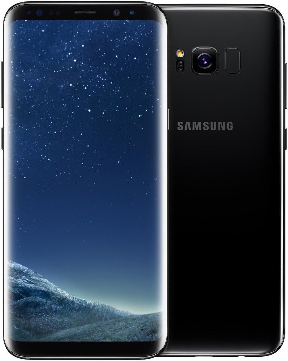 """Smartphone 6.2"""" Samsung Galaxy S8+ - WQHD+, Exynos 8895, 4 Go de RAM, 64 Go, noir"""