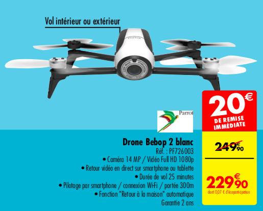 Drone quadricoptère Parrot Bebop 2