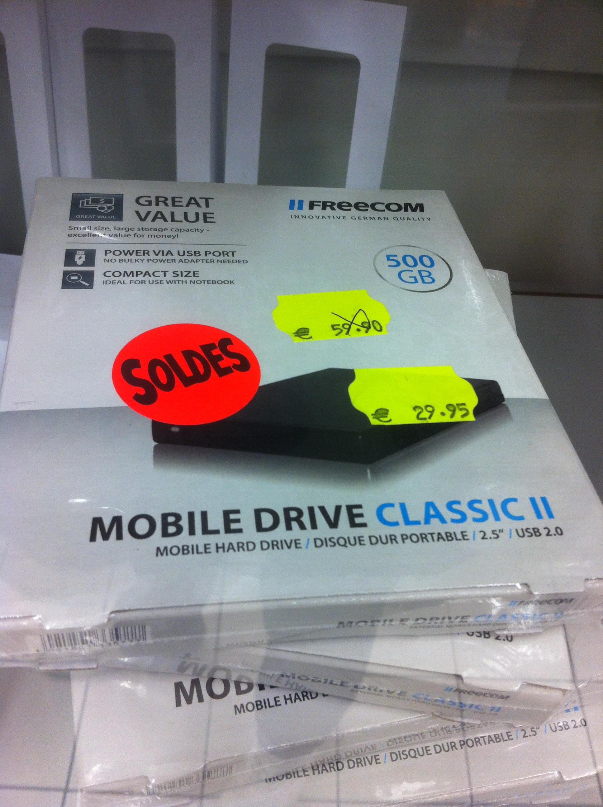 "Disque dur 500 Go 2.5"" USB 2.0  Freecom Mobile Drive Classic II"