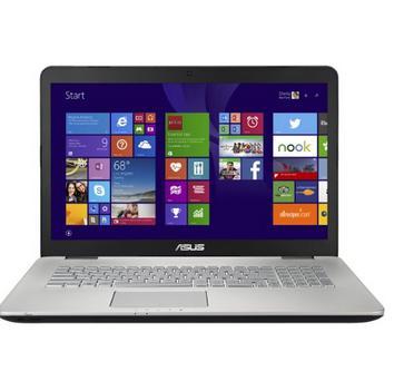 """PC Portable 17.3"""" Asus Multimédia N751JX-T4120H - Intel Core i7 4720HQ 2.6 Ghz, 8 Go de RAM, 1 To + SSD 128 Go, GeForce GTX950M"""