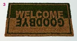Paillasson Welcome/Goodbye et Fancy - Plusieurs coloris