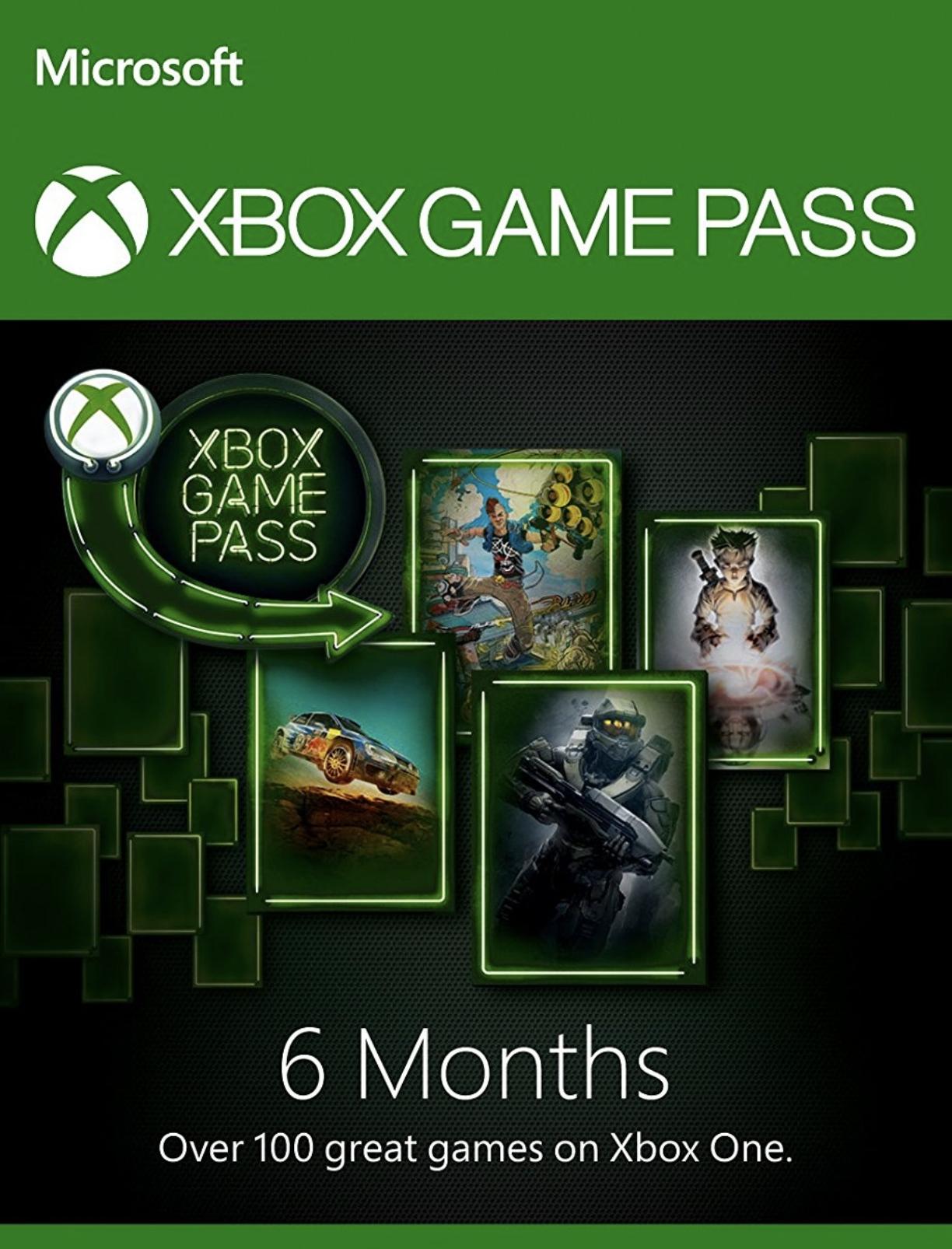Abonnement de 6 mois au service Xbox Game Pass (dématérialisé)