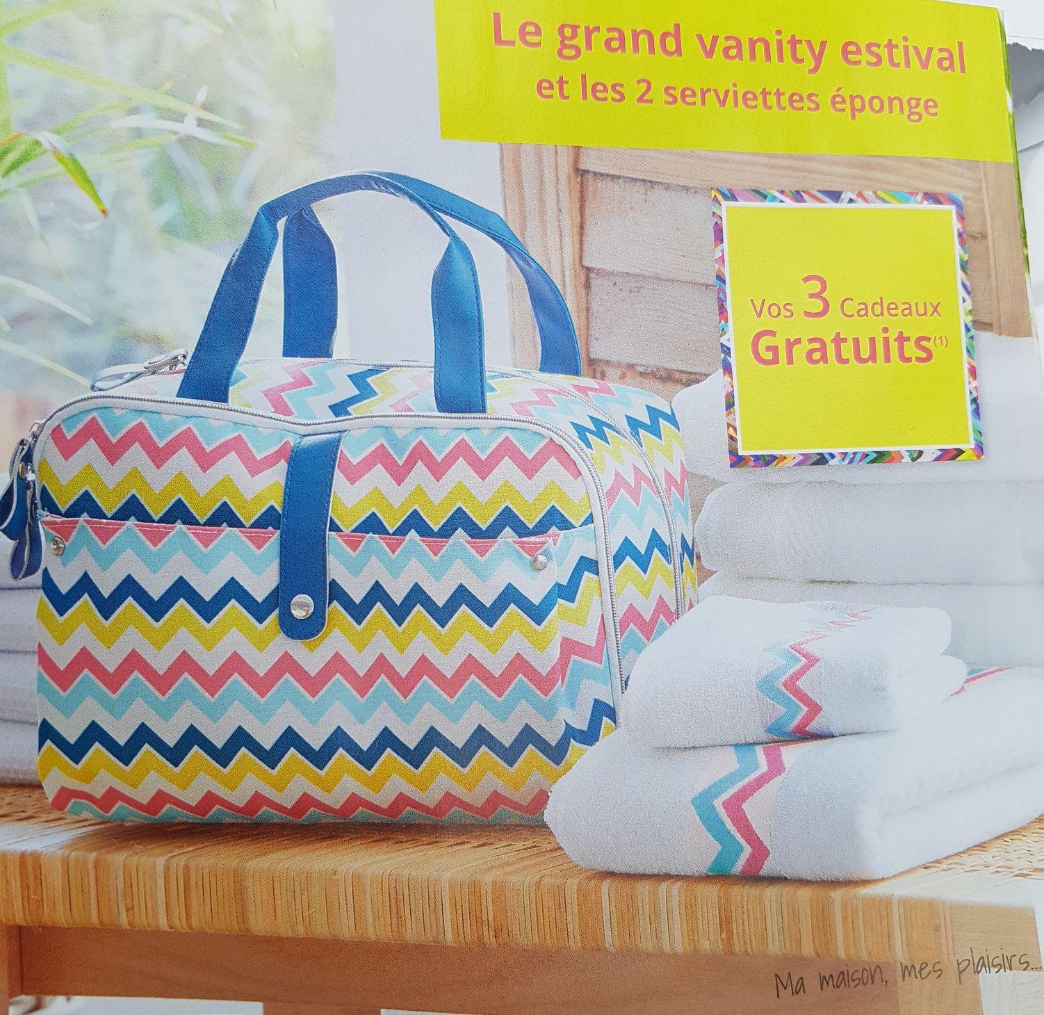 Livraison gratuite dès 10€ d'achat + 1 Grand vanity et 2 serviettes