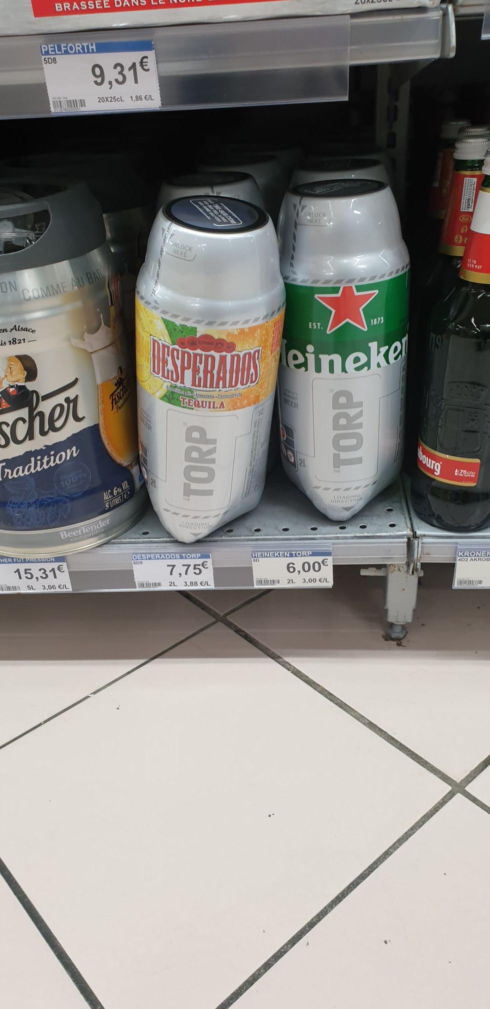 Fûts Torp Heineken 2L à 6€ et Desperados à 7.75€ - Vern sur seiche (35)