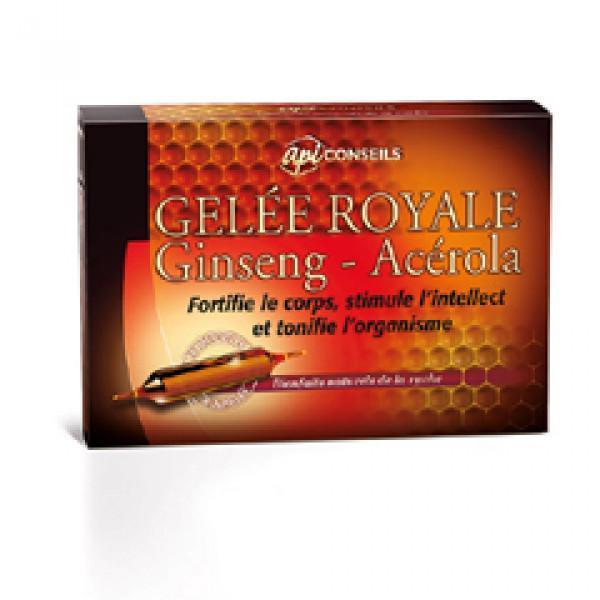 Une boite d'ampoules d'ampoule de gelée royale Ginseng - Acérola + Livraison offertes pour toute commande
