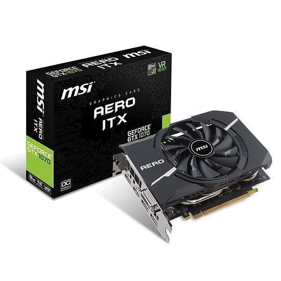 Carte graphique MSI GeForce GTX 1070 Aero ITX OC - 8 Go